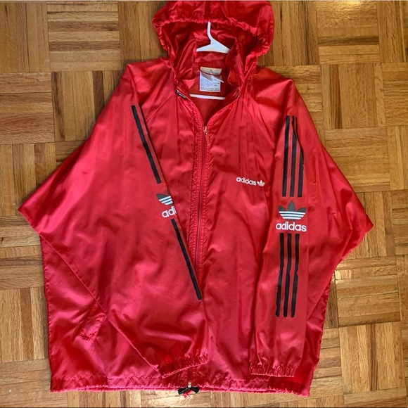 Vintage Red Adidas Windbreaker